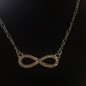Silver Pave Infinity Necklace
